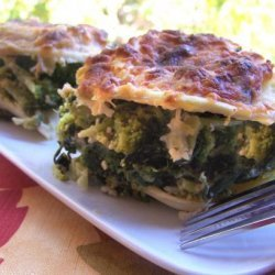 Ravioli Baked With Broccoli and Spinach recipe