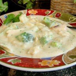 Chicken Broccoli Alfredo Soup recipe