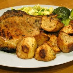 Grilled Pork Chops With Herb Rub recipe