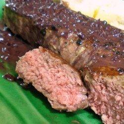 Mean Chef's Steak Au Poivre recipe
