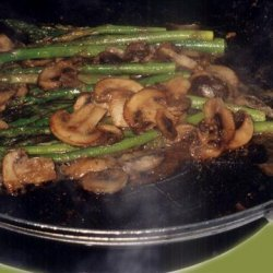 Asparagus Spears with Mushrooms recipe