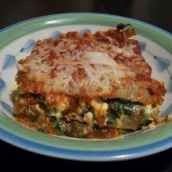 Portabella Mushroom With Spinach and Feta Lasagna (Vegetarian) recipe