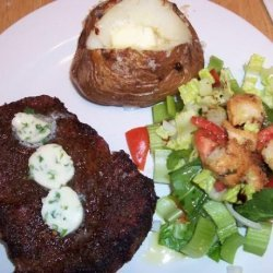 Grilled Crusted Steak With Lemon Butter recipe