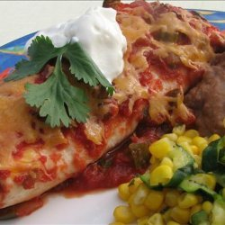 Low Fat Chicken Enchiladas With High Fat Taste. recipe