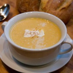 Simple Roasted Butternut Squash Cinnamon Soup recipe