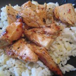 Sticky Coconut Chicken With Chili Glaze and Coconut Rice recipe