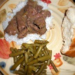 Crock Pot Herbed Round Steak recipe