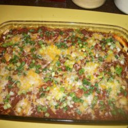 Mexican Lasagna With Black Beans and Corn recipe