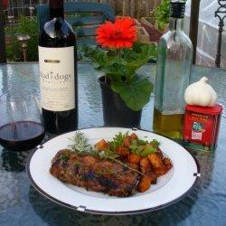 Grilled Porterhouse Steak With Paprika-Parmesan Butter recipe