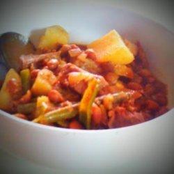 Crock Pot Cowboy Beef & Baked Beans Stew recipe