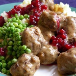 Swedish Meatballs With Lingonberry  or Cranberry  Sauce recipe