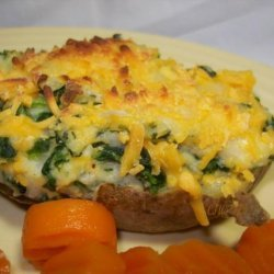 Spinach Twice Baked Potatoes recipe