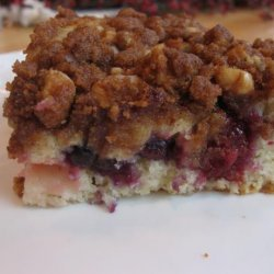 Streusel Topped Triple Berry Coffee Cake recipe