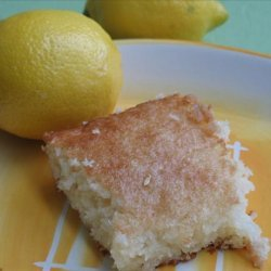 Lemon Cake Squares recipe