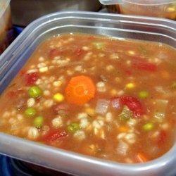 Beef Barley Veggy Soup - Crock Pot recipe