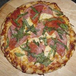 Easy Pizza Dough for Bread Machine recipe