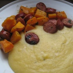 Herb-Roasted Butternut Squash and Sausages recipe
