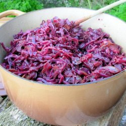 Crock Pot Baked Spiced Red Cabbage With Apples or Pears recipe