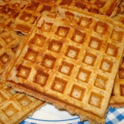 Nutty Honey Oatmeal Waffles recipe