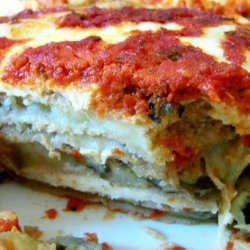 Oven Fried Eggplant or and Zucchini Parmesan recipe