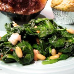 Spinach With Pine Nuts recipe