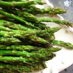 Oven Roasted Asparagus With Garlic recipe