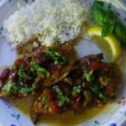 Cubano Chicken with Spicy Currant Picadillo recipe