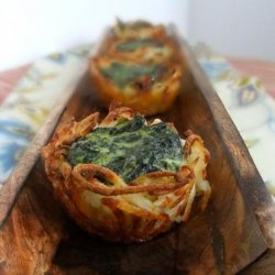 Spinach and Goat Cheese Hashbrowns Nests recipe