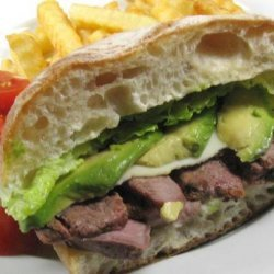 Roast Beef Sandwich with Spicy Mayo and Avocado recipe