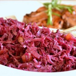 Braised Red Cabbage with Red Onion and Apples recipe