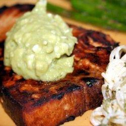 Lemon Soy Swordfish With Avocado Butter recipe