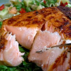 Salmon With Sweet and Spicy Rub recipe