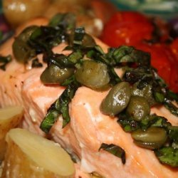 Baked Salmon With Caper Sauce recipe