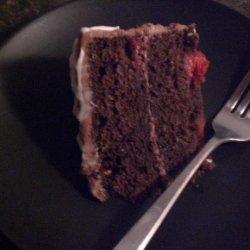 Chocolate Cherry Cake with Chocolate Cream Cheese Frosting recipe