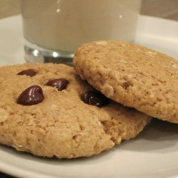 Vegan Peanut Butter Chocolate Chip Oatmeal Cookies recipe