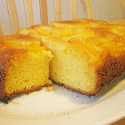 Peach Upside-Down Pudding Cake recipe