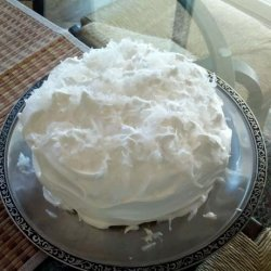 Double Coconut Cake With Fluffy Coconut Frosting recipe