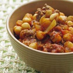 Ground Beef and Garbanzo Bean Casserole recipe