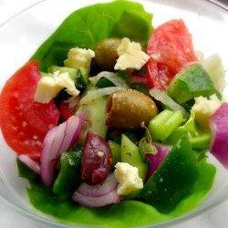 Greek Village Salad (Nick and Marina Makris Horiatiki Salad) recipe
