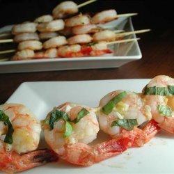 Lemon, Garlic and Basil Shrimp Skewers recipe