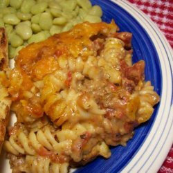 Beefy Macaroni and Cheese Bake recipe