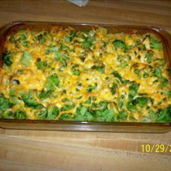 Too Easy Cheesy Chicken, Broccoli and Rice Casserole recipe