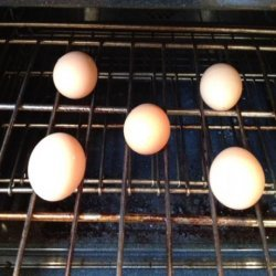Hard Cooked Eggs in the Oven (Baked Eggs) recipe