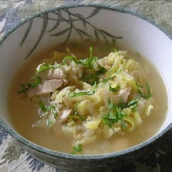 Chicken, Rice and Cabbage Soup recipe