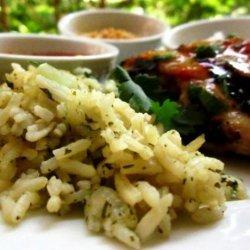 Jasmine Rice With Garlic, Ginger, and Cilantro recipe