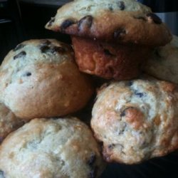 Low Fat Banana Chocolate Chip Muffins recipe