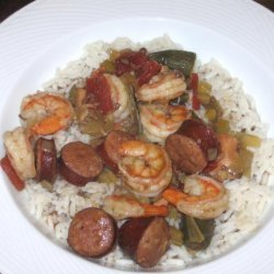 Crock Pot Chicken and Sausage Gumbo With Shrimp recipe