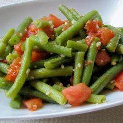Sauteed Green Beans with Tomato & Garlic recipe