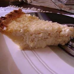 Coconut Custard Pie IV recipe
