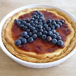 Red, White, and Blueberry Cheesecake Pie recipe